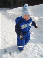 Kubík na zimní procházce (19 měs. korig.)