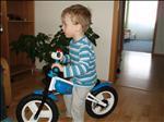 Kubík s novým cykloodrážedlem