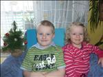 Andrejka (2,5roku) s bráškou