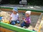 Emminka a Matýsek Steiner překvapeni na písku :-)