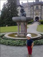 na zámku Žleby