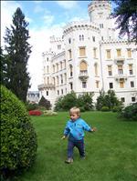 Na zámku Hluboká